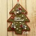 ÖrökZöld fenyő karácsonyi kopogtató - ajtódísz, Otthon, lakberendezés, Dekoráció, Karácsonyi, adventi apróságok, Ajtódísz, kopogtató, Ünnepi dekoráció, Karácsonyi dekoráció, Ez a kopogtató garantáltan örökzöld darab! Hiszen kinek ne csalna azonnal mosolyt az arcára, ha az a..., Meska