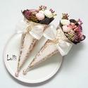 Mini Ajándékcsokor - rózsaszín boglárkás szett 2db, Esküvő, Dekoráció, Csokor, Meghívó, ültetőkártya, köszönőajándék, Ezeket a kis pasztell Mini ajándékcsokrokat viheted ballagásra, születésnapra, ajándékba csak úgy,  ..., Meska