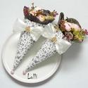 Mini Ajándékcsokor - miniboglárkás szett 2db, Esküvő, Dekoráció, Csokor, Meghívó, ültetőkártya, köszönőajándék, Ezeket a kis pasztell Mini ajándékcsokrokat viheted ballagásra, születésnapra, ajándékba csak úgy,  ..., Meska