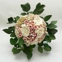 Vintage menyasszonyi örökcsokor, Egyedi vintage stílusú menyasszonyi csokor, sola...