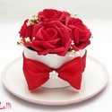 MiniBelle vörösrózsás mini Virágbox - Rózsadoboz, virágdoboz, Esküvő, Otthon, lakberendezés, Asztaldísz, Esküvői dekoráció, Lepd meg anyukádat, szerettedet ezzel a kis cuki romantikus mini virágdobozzal, melybe csodaszép for..., Meska