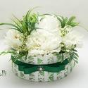 Greenery virágbox virágdoboz, Esküvő, Otthon, lakberendezés, Asztaldísz, Esküvői csokor, Lepd meg kedvesedet, vagy szeretteidet ezzel a romantikus greenery virágdobozzal, melybe csodaszép f..., Meska