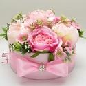Pink rózsás virágbox
