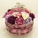 RomanticRosebox - születésnapra!, Esküvő, Otthon, lakberendezés, Asztaldísz, Esküvői dekoráció, Lepd meg szülinapos szeretteidet ezzel a romantikus virágdobozzal, melybe csodaszép mályva, rózsaszí..., Meska