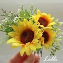 Napraforgós fejdísz, Napraforgós fejdísz Selyemvirágokkal  A virágd...