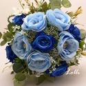 Foglalva! Kék rózsás menyasszonyi örökcsokor, Móninak Foglalva!!  Menyasszonyi örökcsokor, mi...