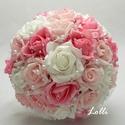 Foglalva! Pink-rózsaszín gyöngyös menyasszonyi csokor, Foglalva! Pink rózsaszín gyöngyös menyasszonyi...