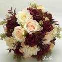 Egyedi esküvői szett Bettinának!, A szett tartalma: 1db egyedi menyasszonyi selyemvi...