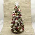Karácsonyi egér asztaldísz +mini karácsonyfa dekor Gabinak!, Úgy néz ki mint egy kicsorduló habos kávé kar...