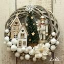 A kis diótörő koszorú és egérkirálylányos adventi box Anginak, Cuki diótörővel, kis házakkal, karácsonyfáva...