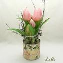 Cserepes élethű tulipán, Teljesen élethű /gumi/ tulipán virágok /két v...