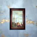 festmény- Budapest külvárosa nyári naplemente, Dekoráció, Képzőművészet, Festmény, Olajfestmény, Festészet, Saját készítésű olajfestményem, másolat nem készült belőle, egyedi darab.  Nappali ablakom látványa..., Meska