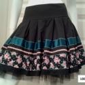 Tüllös szoknya, Ruha, divat, cipő, Női ruha, Szoknya, A népszerű Ethnic szoknyám egy újabb variációja készült el. Türkiz és rózsás-pöttyös s..., Meska