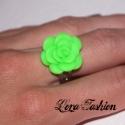 Zöld rózsa gyűrű (Lorafashion) - Meska.hu