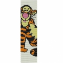 Tigris (Micimackó) PEYOTE minta , Nyolc színű, egyszemes peyote minta Micimackó a...