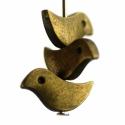 Antik bronz kismadár gyöngy, köztes, fém alkatrész, A madárkák mérete kb. 7x12 mm, antik bronz szí...
