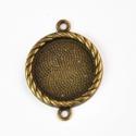 Antik bronz színű medál alap/kapcsolóelem, Méret: 33x25mm  Belső átmérője: 20mm  Szín: ...