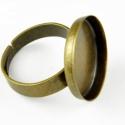 Antik bronz színű gyűrűalap (18 mm), Sima szélű állítható gyűrűalap.  Méret: 18...