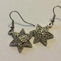 Karácsonyi csillag antik ezüst színű fülbevaló, Egyszerű, mégsem hétköznapi. Antik ezüst szí...