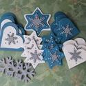 Karácsony - Ezüst hópehely karácsonyfadísz szett, Karácsonyfadísz szett süthető gyurmából ezü...