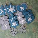 Karácsony - Fehér hópehely karcsonyfadísz szett (csillag), Karácsonyfadísz szett süthető gyurmából ezü...