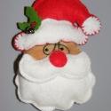 Télapó   és Rudi hűtömőgnes, Dekoráció, Karácsonyi, adventi apróságok, Karácsonyi dekoráció, Varrás, Népi játék és hangszerkészítés, Filcből készítettem, mágnessel láttam el,hogy  hűtőd éke legyen a Mikulás,és Rudi a rénszarvas.   m..., Meska
