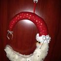 Ajtódísz, Dekoráció, Ünnepi dekoráció, Karácsonyi, adventi apróságok, Karácsonyi dekoráció, Hamarosan itt a  karácsony, díszítsd ajtódat télapó ajtódísszel., Meska