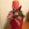 Asztaldísz, Dekoráció, Ünnepi dekoráció, Karácsonyi, adventi apróságok, Karácsonyi dekoráció, Karácsonyi asztaldíszt készítettem, szeretettel., Meska