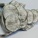 3D halas fali kép, Férfiaknak, Otthon & lakás, Horgászat, vadászat, Legénylakás, Dekoráció, Kép, Fémmegmunkálás, Festett tárgyak, Falra akasztható hal sziluett fémből.  Matt fehér festésre került a fekete antikolás.  Teljes hossz..., Meska