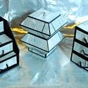 MINTHAFA - Faerezetes ékszerdoboz / írószertartó szett /szürke/, Dekoráció, Dísz, Faerezetes mintájú doboz szett mahagóni színben.  Kartonpapírból készült, TARTÓS, igényesen kialakít..., Meska