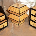 MINTHAFA - Faerezetes ékszerdoboz / írószertartó szett /fenyő/, Dekoráció, Dísz, Faerezetes mintájú doboz szett natúr fenyő színben.  Kartonpapírból készült, TARTÓS, igényesen kiala..., Meska