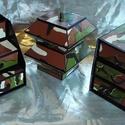 KATONÁS - TEREPSZÍNŰ ékszerdoboz / írószertartó szett /fekete alapon/, Dekoráció, Dísz, KATONÁS - TEREPSZÍNŰ doboz-szett /fekete alapon/  Kartonpapírból készült, TARTÓS, igényesen kialakít..., Meska