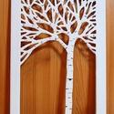 NYÍRFA - vászonkép / FALI KÉP, Otthon, lakberendezés, Képzőművészet, Vegyes technika, Falikép, Feszített vászon az alap, ebből úgy vágtam ki ezt az ágas-bogas fát, hogy a vászon keret széle tarts..., Meska