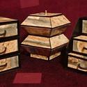 Terméskő hatású ékszerdoboz / írószertartó szett /fekete alapon/, Dekoráció, Dísz, Terméskő hatású doboz-szett /fekete alapon/  Kartonpapírból készült, TARTÓS, igényesen kialakított, ..., Meska