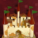 Lovagvár, Dekoráció, Játék, Baba-mama-gyerek, Kartonpapírból és tejes dobozokból készült, TARTÓS, igényesen kialakított lovagvár.  KÉZZEL KÉSZÍTET..., Meska
