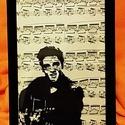ELVIS PRESLEY / FALI KÉP (A/4-es méretű), Kottára fekete alkoholos filccel rajzolt stilizá...