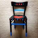 Lovechair No. 1., Bútor, Szék, fotel, Újrahasznosított alapanyagból készült termékek, Festett tárgyak, Ez a legelső darabom, a LOVECHAIR stílusának meghatározója. A 8. kerületben árválkodott a szék, onn..., Meska