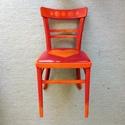 Lovechair No. 15., Bútor, Szék, fotel, Festett tárgyak, Újrahasznosított alapanyagból készült termékek, Egy újabb upcycling szék a bohém stílus szerelmeseinek. Stabil szerkezetű, rendes használatra és de..., Meska