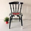 Lovechair No. 19: Csíkos szerelem, Esküvő, Bútor, Szék, fotel, Nászajándék, Festett tárgyak, Újrahasznosított alapanyagból készült termékek, Egyedi upcycling darab a kontrasztok szerelmeseinek. Lomtalanításból származó szék, teljesen felújí..., Meska