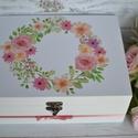 Lánybúcsú/esküvői ajándék doboz - A házasság nélkülözhetetlen kellékei - 12 fakkos, A házasság nélkülözhetetlen kellékei doboz i...