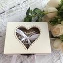 ÚJ!!! 2020-as gyűrűtartó doboz esküvőre, eljegyzésre - gyűrűpárna, Esküvő, Esküvői dekoráció, Gyűrűpárna, Esküvői ékszer, Ha nem szeretnéd az esküvődön az unalmas gyűrűpárnát választani, jó helyen jársz :)  Egyedi, másik e..., Meska