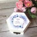 ÚJ!!! 2020-as gyűrűtartó doboz esküvőre, eljegyzésre - gyűrűpárna, Esküvő, Gyűrűpárna, Esküvői dekoráció, Ha nem szeretnéd az esküvődre az unalmas gyűrűpárnát választani, jó helyen jársz :)  Egyedi, másik e..., Meska