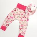 Krém alapon pink pillangók, nadrág és nyálkendő., Ruha, divat, cipő, Gyerekruha, Baba (0-1év), , Meska