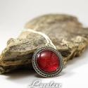 piros csillogás, Ékszer, óra, Ékszerszett, Gyönyörű piros nyaklánc    Színe: piros Lánc hossza (mennyire lóg le, változtatható): 20 cm..., Meska