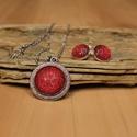 Piros csillogás, Ékszer, Gyönyörű piros nyaklánc  Színe: piros Lánc hossza (mennyire lóg le, változtatható): 25 cm M..., Meska