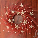 Bordó koszorú, Dekoráció, Otthon, lakberendezés, Dísz, Ajtódísz, kopogtató, Virágkötés, Ezt a díszt egy 20 cm-es szalma alapra készítettem. Bordó színű búzával, csillag lilivel és apró ar..., Meska