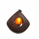 narancssárga legyező medál  megrendelésre!!!, Ezt a medált Csgabriella részére készítettem....