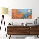 Akció-Holdfényben-modern, Képzőművészet, Otthon, lakberendezés, Festmény, Falikép, Festészet, Keretre feszített vászonra akrilfestékkel-festve.  Méret: 80x40cm. Külön keretezést nem igényel , s..., Meska