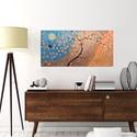 Akció-Ketten-modern, Képzőművészet, Otthon, lakberendezés, Festmény, Falikép, Festészet, Keretre feszített vászonra akrilfestékkel-festve.  Méret: 80x40cm. Külön keretezést nem igényel , s..., Meska