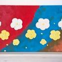 Színeske-modern festmény, Képzőművészet, Otthon, lakberendezés, Festmény, Falikép, Festészet, Keretre feszített vászonra akrilfestékkel-és pasztával, festőkéssel festve,fixálva. Méret: 80x40cm...., Meska